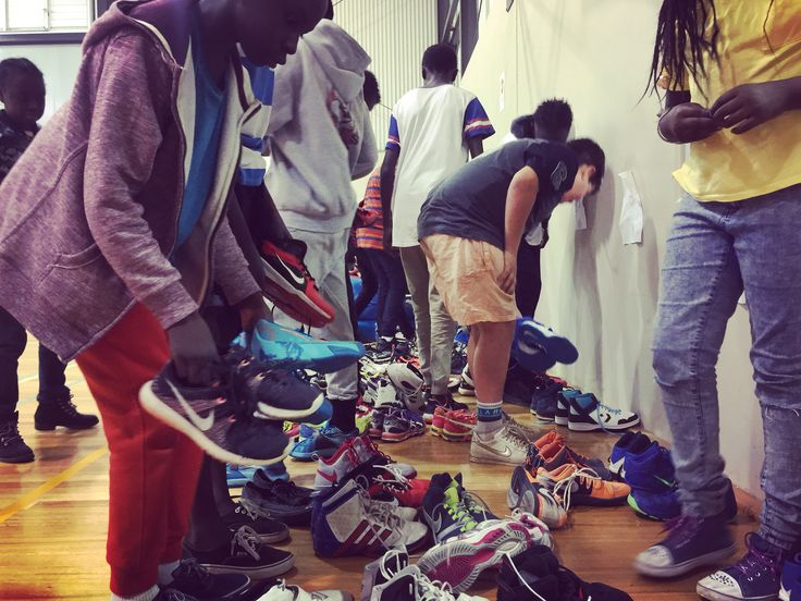 At our last Bounce Back program, we were blessed to be donated nearly 100 pairs of brand new and some nearly used sports shoes for our disadvantaged kids.  They were so blown away as many of the shoes were high quality Nikes, Jordan's, Adidas, Reeboks and many more.  Most of these kids have never owned decent shoes and immediately put on the new shoes and started to play and feel cared for.