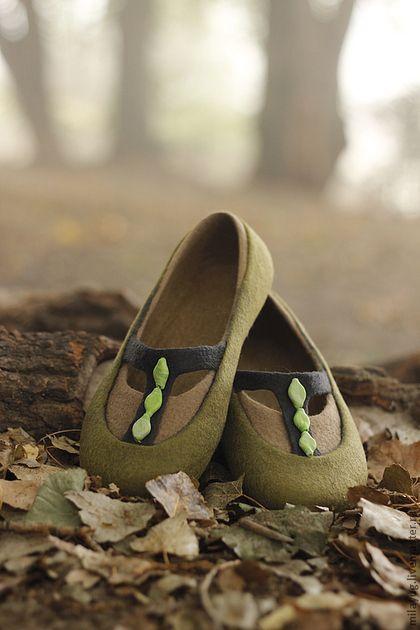 """Обувь ручной работы. Ярмарка Мастеров - ручная работа. Купить """"Туманный лес""""…"""