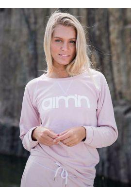 <p>Sweatshirt i matt rosa, lös passform och logga framtill. Ribbad nertill och vid armslut. Matcha med Pink Sweatpants för en komplett look.</p>