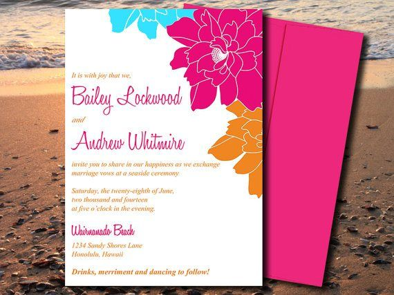 Turquoise And Pink Wedding Invitations: 21 Best Aqua, Pink And Orange Wedding Images On Pinterest