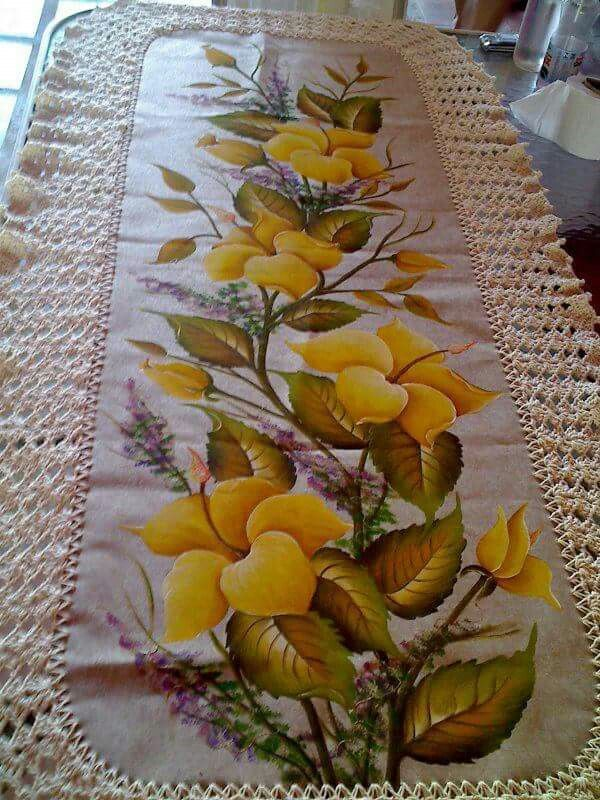 501 best images about pintura en tela manteles caminos de mesa individuales on pinterest - Pintura en tela motivos navidenos ...