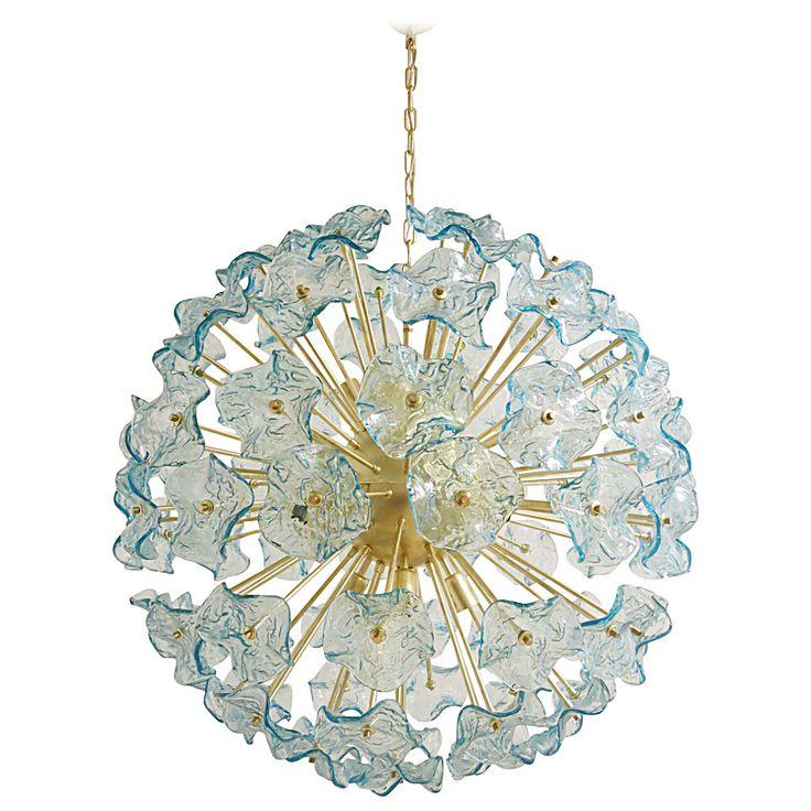 373 best illuminate images on pinterest chandeliers chandelier beautiful italian murano glass aquamarine flowers chandelier mozeypictures Gallery