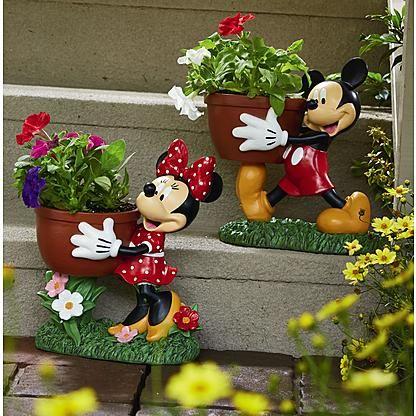 Mickey & Minnie Planters I want the Mickey one