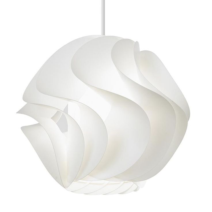 Endon TUCCI-1WH White polyprop pendant   Electricsandlighting.co.uk  