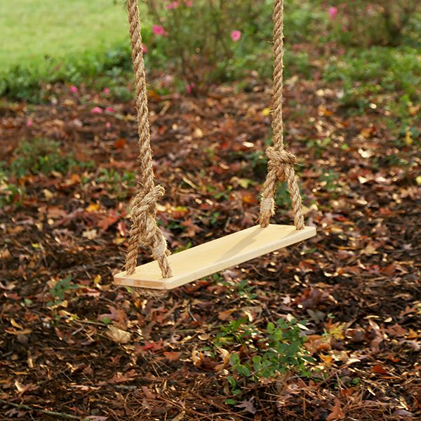 Classic Swing - Hard Maple - $90.00 - You know what Mom wants? She wants this gorgeous tree swing that's the perfect size for the kids, and for her, too! Forget the clunky, chunky swing set with plastic swings and make sure of your family tree! Weight limit: 250lbs. (Click to order for Mom!)