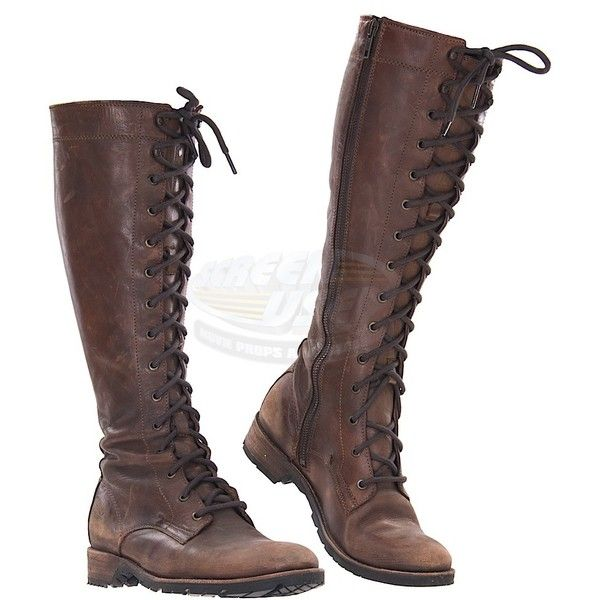Hunger Games Catching Fire, The Katniss' Hunting Boots (Jennifer... ❤ liked on Polyvore featuring shoes, boots and footwear