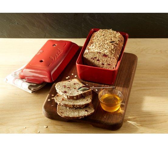 Emile Henry - Forma do pieczenia chleba, czerwona domowe pieczywo domowy chleb