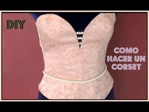DIY Vestido escote corazón (patrones gratis) / DIY Bandeau bodycon dress (free patterns) - YouTube