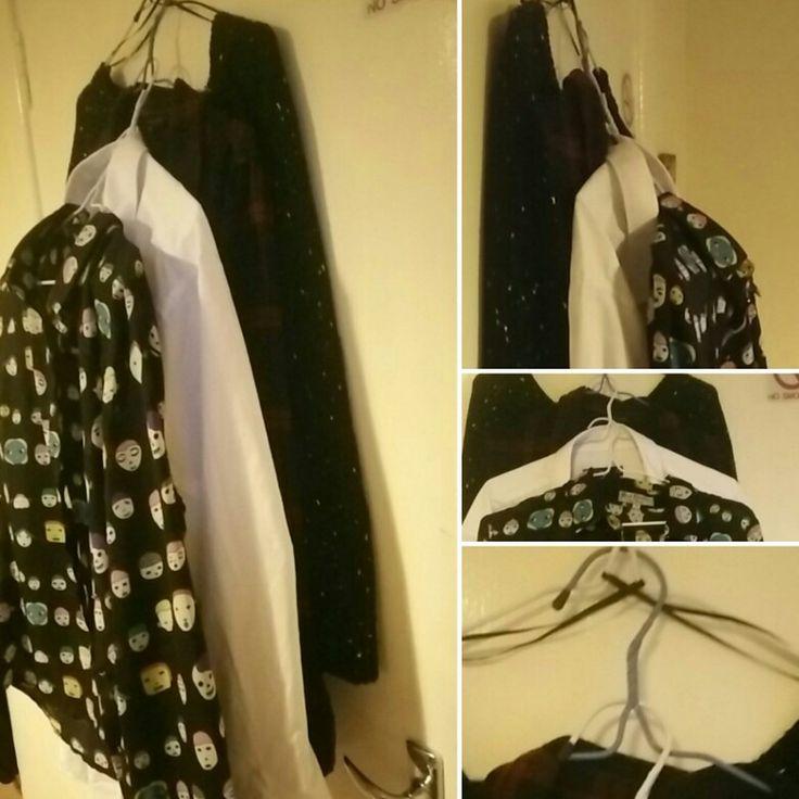 Truco colgar ropa para secar en perchas sin que queden pegadas.  Tip hang up clothes to dry .
