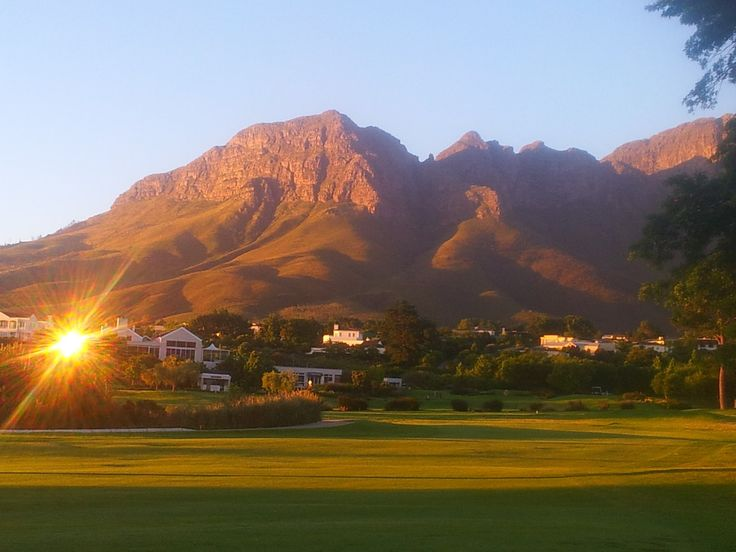 The Helderberg Mountain is part of the Hottentots-Holland mountain range in the Western Cape, South Africa.