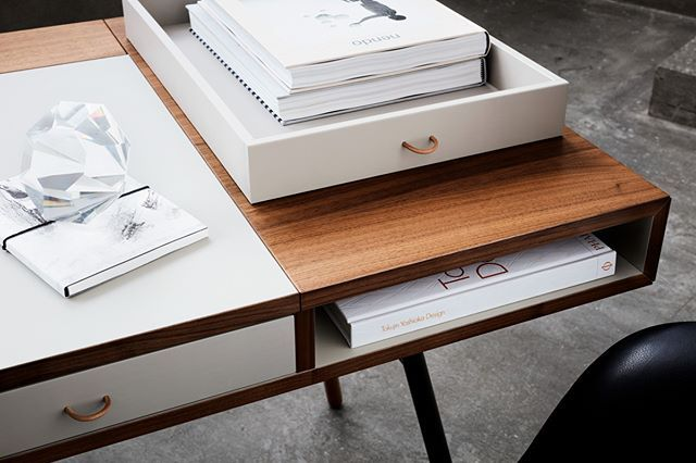 The Cupertino Desks Combines A Large Table Top And Roomy Drawers