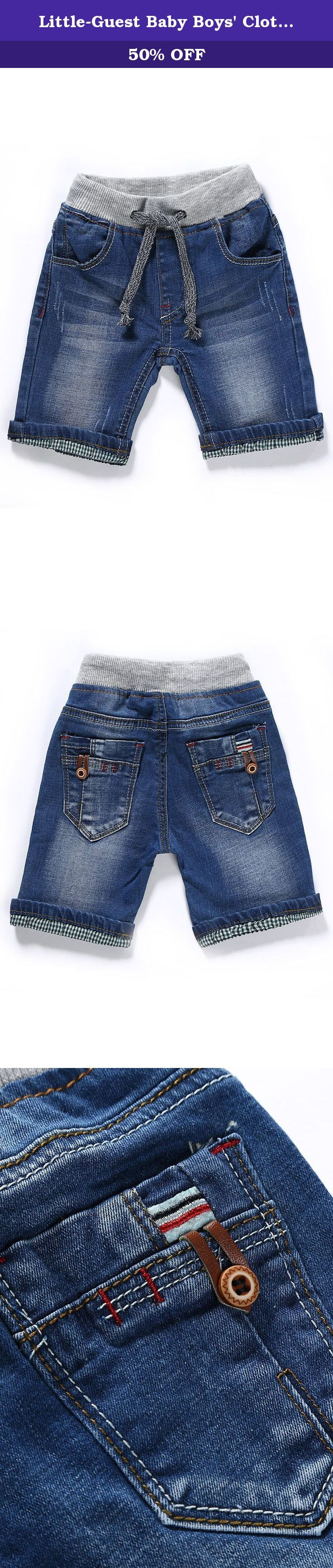 """Little-Guest Baby Boys' Clothes Blue Knee-Length Jeans Shorts B210 (24-30 Months, Light Blue). Pay attention to our Size Chart: 6-9 Months WAIST:48cm/18.7"""" HIP:54cm/21.1"""" BOTTOM:24cm/9.4"""" BODY LENGTH:24cm/9.4"""" 9-12 Months WAIST:50cm/19.5"""" HIP:56cm/21.8"""" BOTTOM:25cm/9.8"""" BODY LENGTH:25cm/9.8"""" 12-18 Months WAIST:53cm/20.7"""" HIP:59cm/23"""" BOTTOM:26.5cm/10.3"""" BODY LENGTH:26.5cm/10.3"""" 18-24 Months WAIST:54cm/21.1"""" HIP:60cm/23.4"""" BOTTOM:27cm/10.5"""" BODY LENGTH:27cm/10.5"""" 24-30 Months…"""