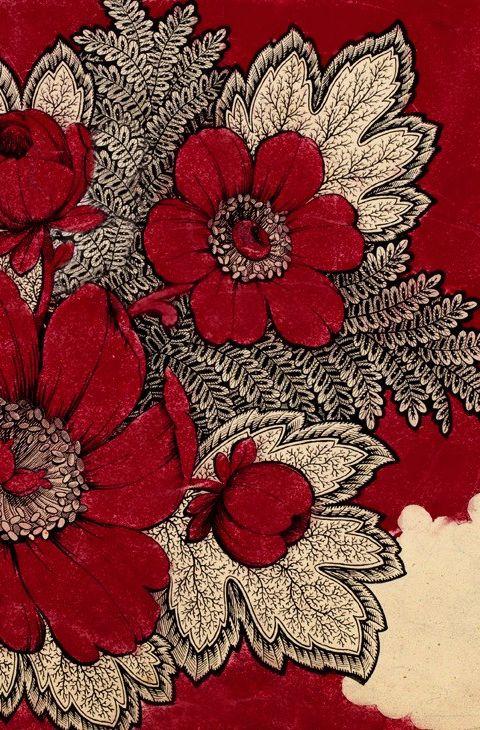 Antique Red and Cream Textile