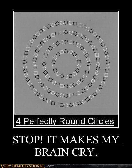 4 perfectly round circles. yep the middle one looks perfectly round.