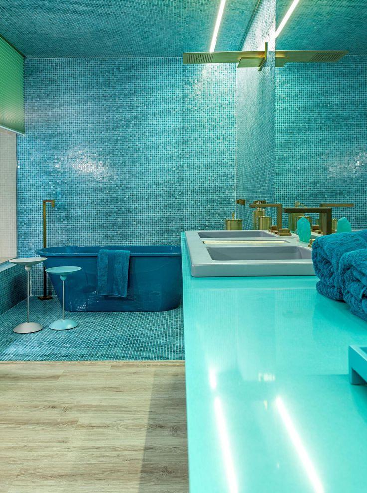 SILESTONE ACQUA FRACCAROLI    HobbyDecor & inspirações   Veja: instagram.com/hobbydecor   #shower #decor #design