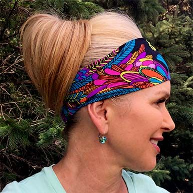 Our workout headbands can tame wispy hairs while staying put through even the toughest workouts. Handmade in the U.S.A and 100% machine washable.