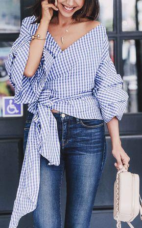 Ruffle Sleeve Top Outfit Ideas   Lovika #street #style #OOTD