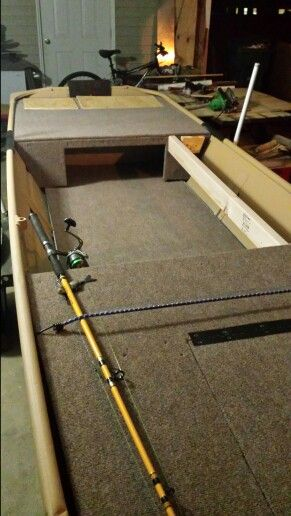 Building the back deck | Jon boat conversion to bass boat by Brian Ankney | Pinterest | Back ...
