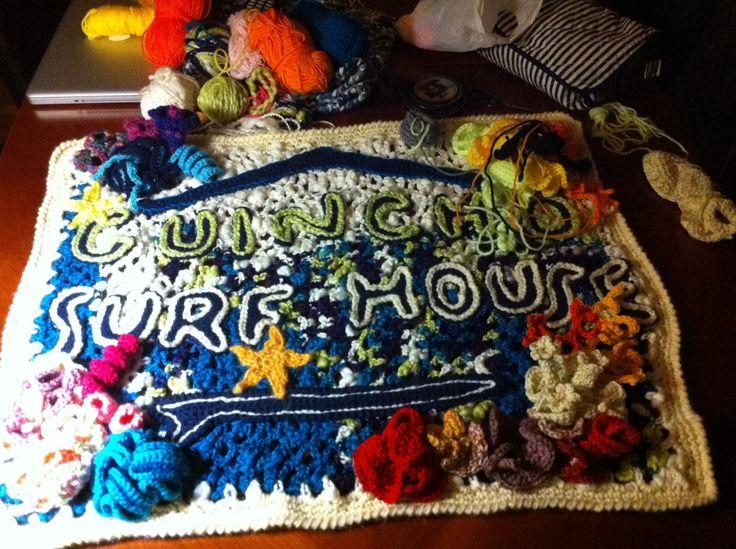 Wanna be crochet coral reef:)... A work in progress... #crochet #freeform #coralreef