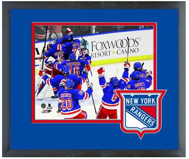 New York Rangers Celebrate Defeating Canadiens Game 6 2014 Eastern Conference Finals