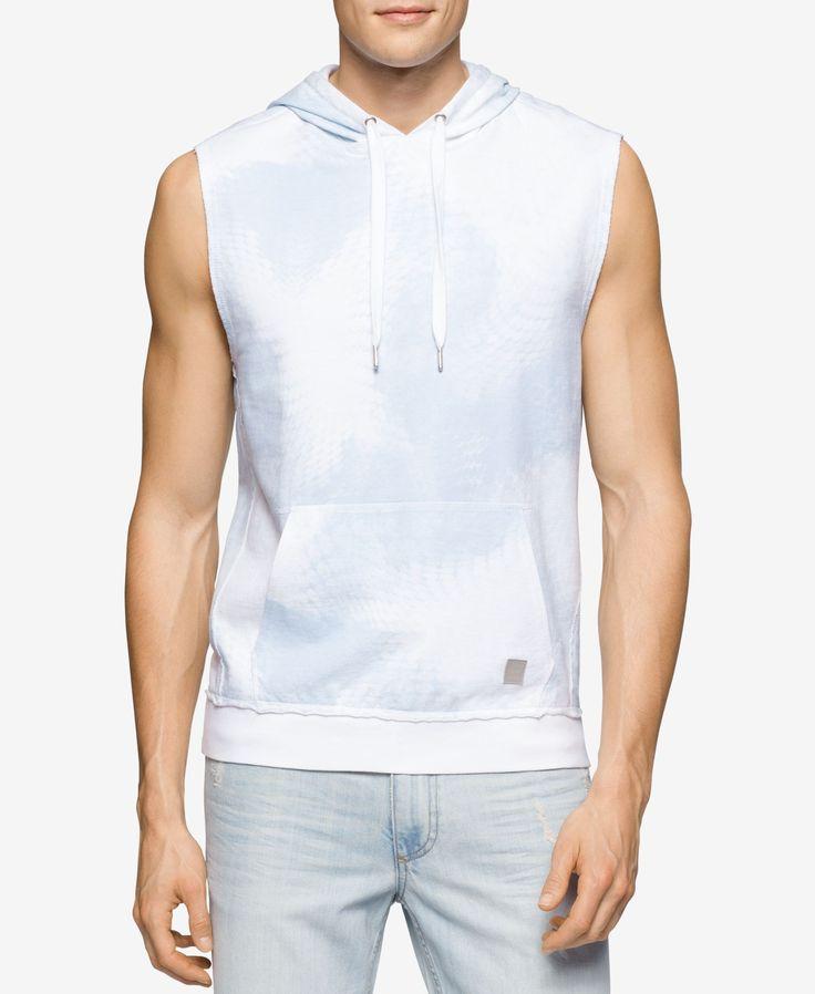 Calvin Klein Jeans Men's Sleeveless Hoodie