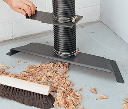 A broom has no cords or hoses to catch and will reach every corner of your shop. Instead of tripping over the vacuum or dust collection hose, just connect Woodstock Internationals floor sweep to your dust collection system and sweep the debris away. The