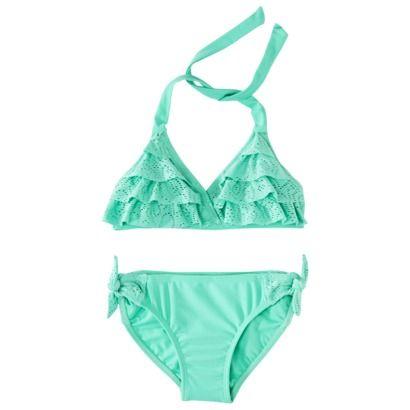 Halter Ruffled Bikini, at target i want this swim suit!!!!