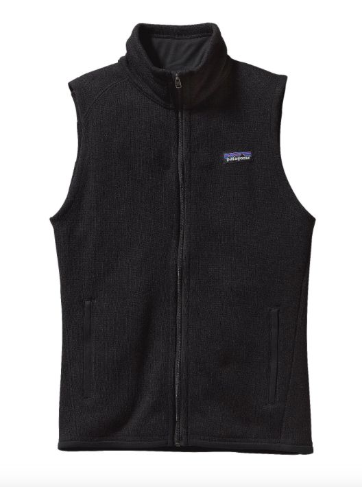 Combining the aesthetic of wool with the easy care of polyester fleece, this Patagonia Women's Better Sweater® Fleece Vest in Black lets you move freely while still staying warm. - 10-oz 100% polyeste