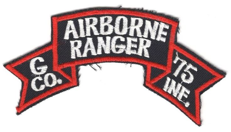 Army Patch: G Co. 75th Infantry Airborne Ranger scroll