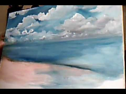 How To Paint Clouds http://www.youtube.com/watch?v=-CUOBgNE-VQ=related