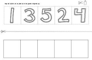Juf Shanna: Cijfers in de goede volgorde plakken (kleuters)