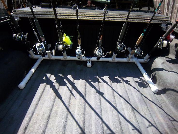 Best 25 fishing rod rack ideas on pinterest for Fishing pole rack for truck