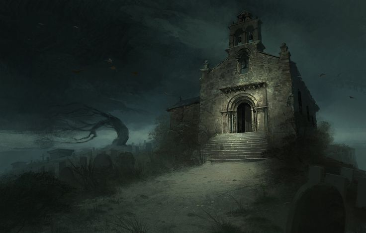 'The Evil Within' - church on the hill, Christian Bravery on ArtStation at http://www.artstation.com/artwork/the-evil-within-church-on-the-hill