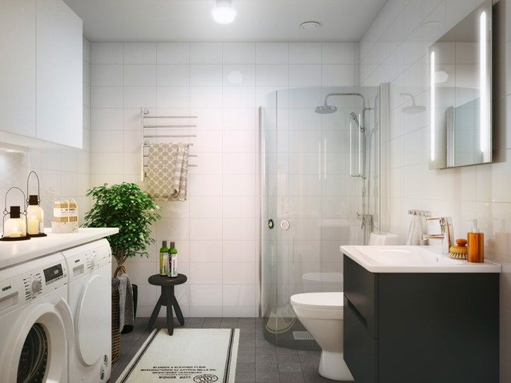 Bathroom in Brf Blicken in Haninge.