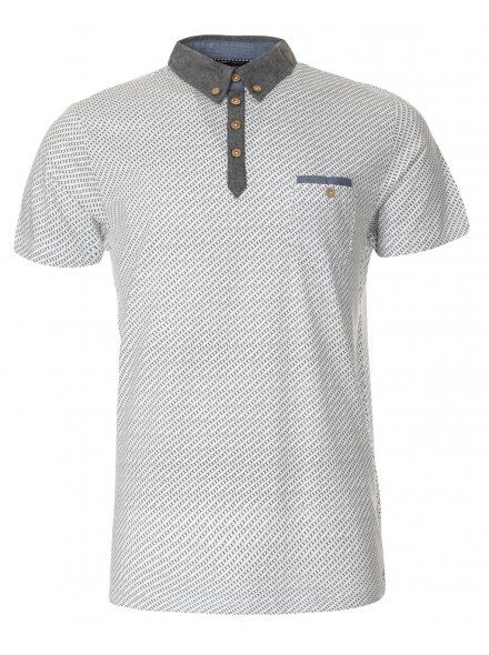 Geometric Pattern Smart Polo Shirt