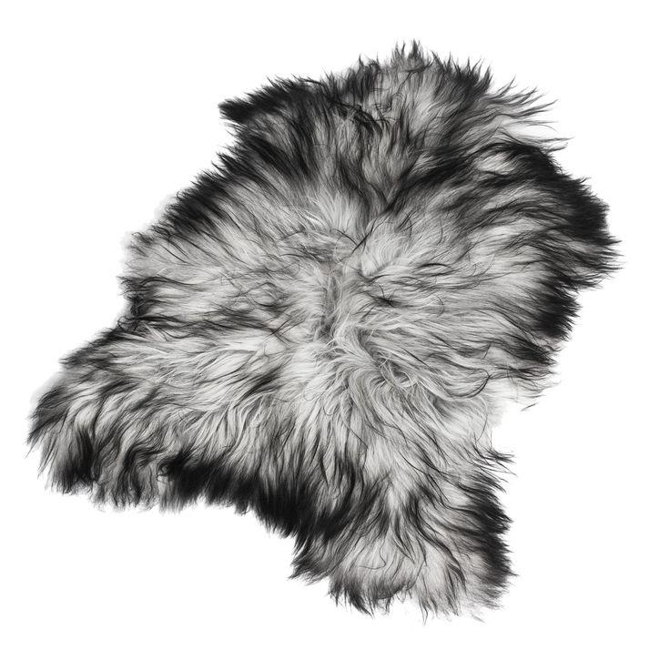 Longhair fårskinn 70x110, naturligt grå i gruppen Mattor / Mattor / Fårskinn hos RUM21.se (1023100)