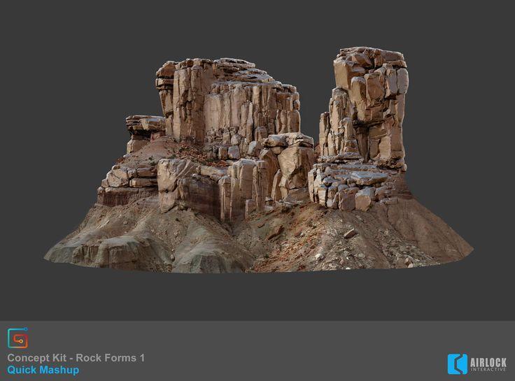 ArtStation - Concept Kit - Rock Forms 1 - Mashup, Justin Owens