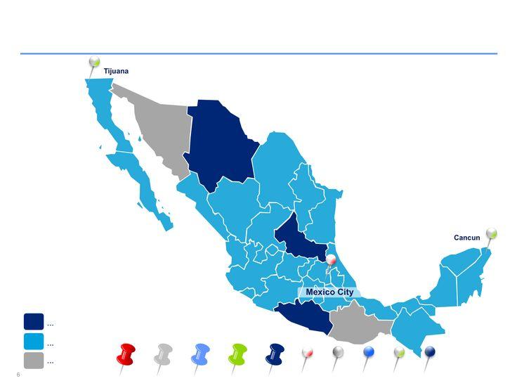 mapa interactivo de México en ppt