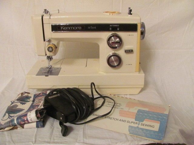 Sears Kenmore Convertible 40 Stitch Sewing Machine 40 WPedal Amazing How To Thread A Kenmore 14 Sewing Machine