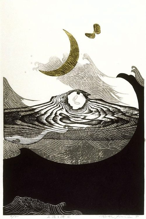lightthroughrain:  By Reika Iwami. This one is called New moon and sea - C and is at the Art Gallery of NSW