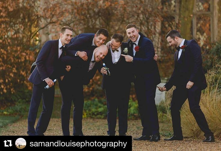 Mr Kelly and his groomsmen who hired their royal blue slim fit shawl collar dinner suits with matching double breasted waistcoats from our Colchester branch