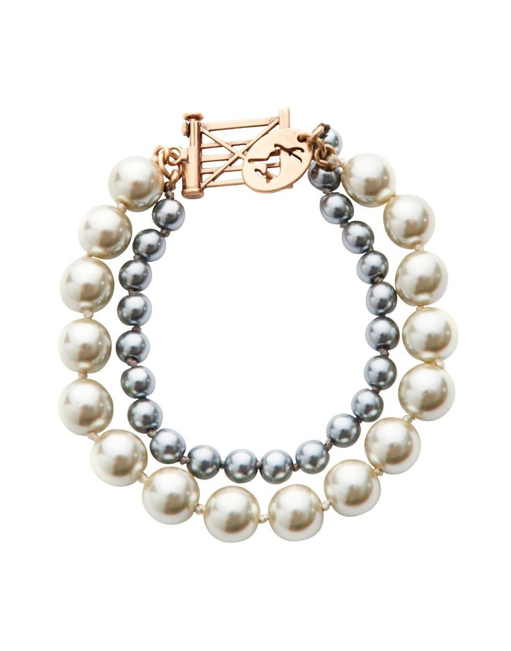 Joules Womens Beaded Bracelet, Cream.                     Pearls never go out of fashion but this two string of faux pearls add a contemporary twist to a classic.