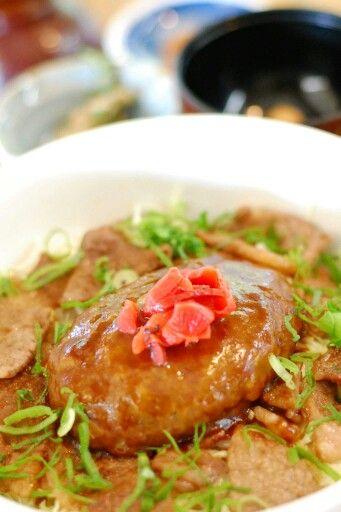 きよらカァサ あか牛ハンバーグ&あか牛カルビ丼―南小国の食べ物―