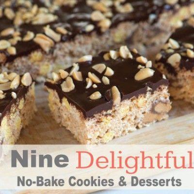 Nine Delightful No Bake Cookies and Desserts