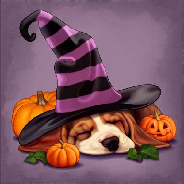 Check out the deal on Cazenave Puppy Halloween Ceramic Accent & Decor Tile - MC2-005a at Artwork On Tile Online Storefront