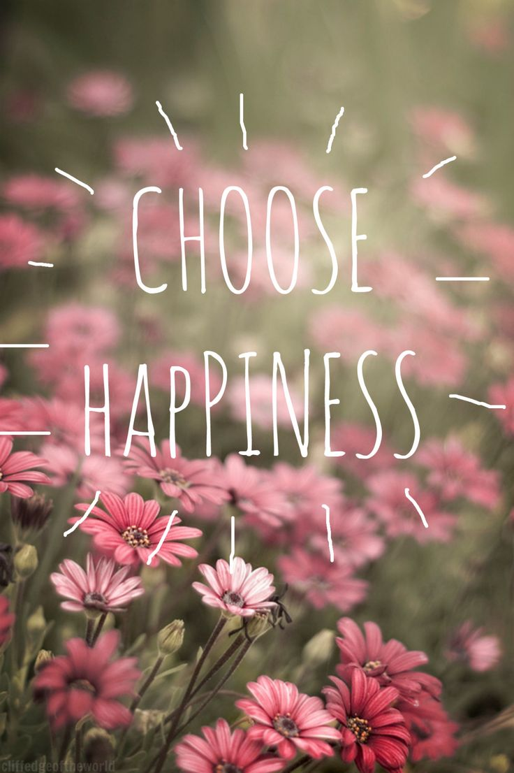 CHOOSE HAPPINESS Pink QuotesFloral