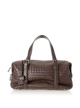 50% OFF Bottega Veneta Women's Junior Intrecciato Nappa Montaigne Satchel, Brown