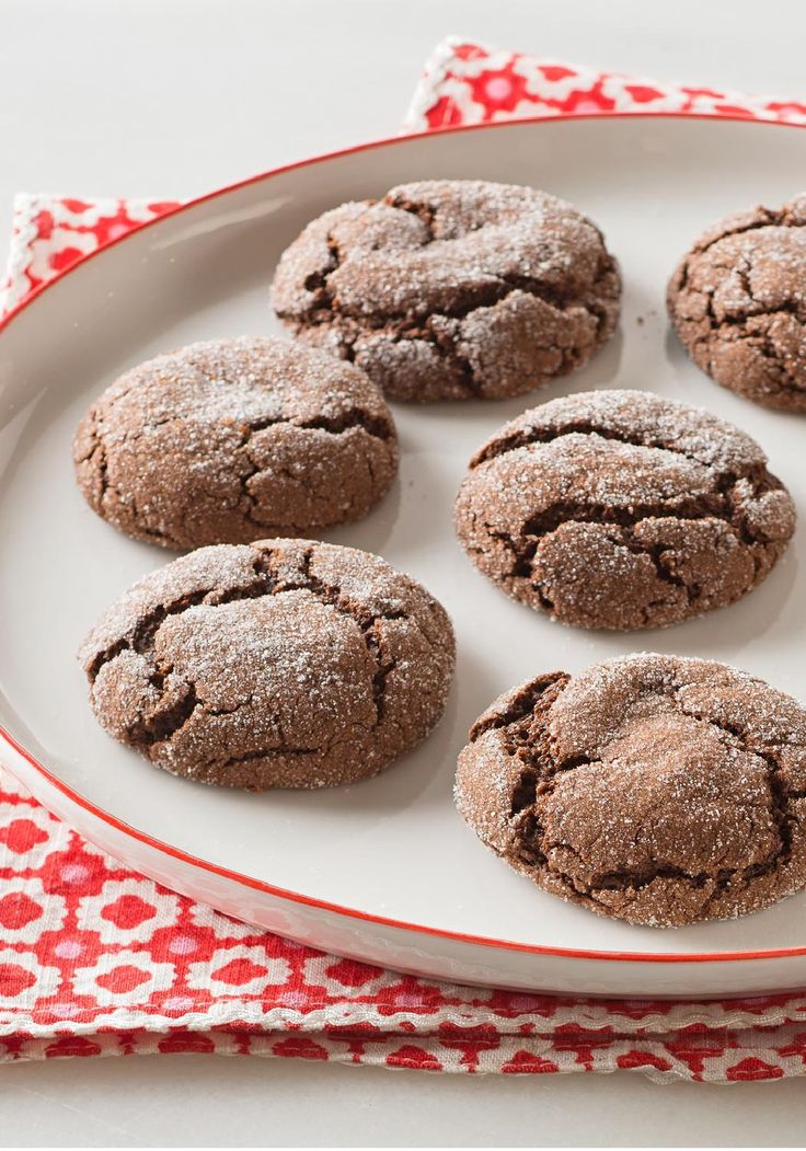 Mocha Crinkles — This Mocha Crinkles recipe is done in less than 30 minutes, and it's easy to make, thanks to instant coffee and devil's food cake mix.