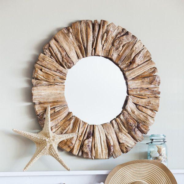 Driftwood Round Oversized Wall Mirror