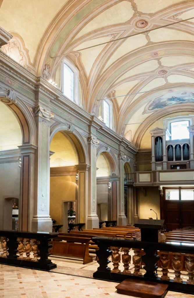 Chiesa San Michele Arcangelo di Certosa - HI LITE Next Fornitura apparecchi di #illuminazione #viabizzuno #tessera #cornice , spot two